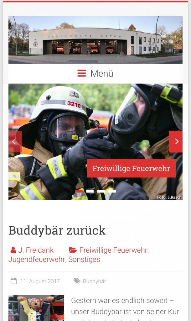 Neue Homepage auf dem Smartphone